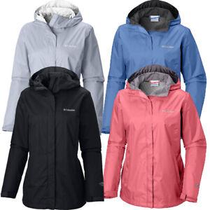 "New Womens Columbia /""Arcadia II/"" Omni-Tech Waterproof Rain Wind Jacket"