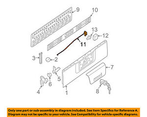 image is loading nissan-oem-05-15-frontier-tailgate-lock-or-