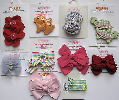 Gymboree Your Choice of Barrette Pairs Singles Claws Clips Apple Bee Tulip Star