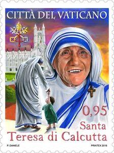 Vatican-stamps-sellos-Vaticano-2016-CANONIZZAZIONE-DI-MADRE-TERESA