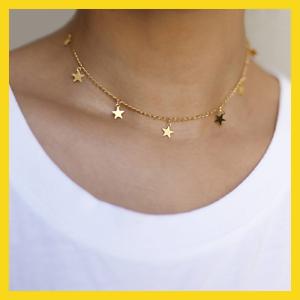 New fashion goutte 7 étoile Collier Tour de cou étoile dorée collier
