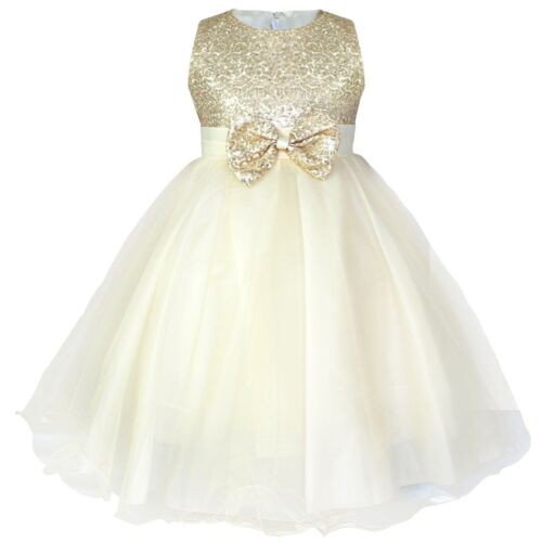 Flower Sash Girls Princess Party Wedding Junior Bridesmaid Formal Birthday Dress
