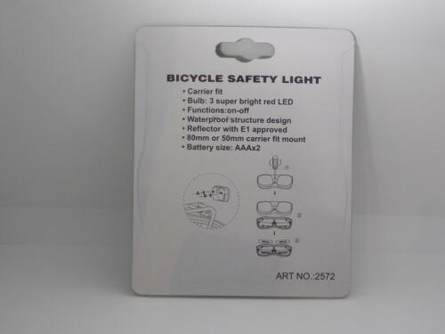 2020 falkx Cat Bicycle Taillight 3LED Battery Carrier 50mm//80mm-German Road