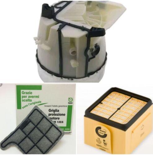 Kit Motore folletto originali con filtri hepa vk 135 e vk 136 vorwerk  nuovi