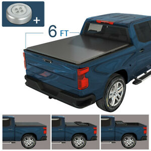 6 FT Tonneau Bed Cover Soft Tri-Fold Fits For  2019-2021 Ford Ranger Trucks