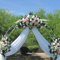 7.5ft White Metal Wedding Arch Garden Decoration Bridal Party Prom Flower Decor