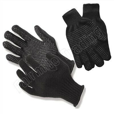 1 PAIR Mens Ladies Gripper Glove Black Magic Stretchable Winter Driving One Size