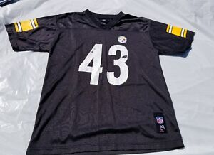 Pittsburgh Steelers Troy Polamalu Size Youth L(16-18) NFL Jersey ... e417a917a