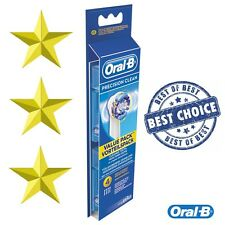 4 x Oral-B Precision Clean Electric Toothbrush Heads (EB20-4)