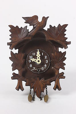 Small Made in Germany Engstler Wooden Cuckoo Clock Birds No 0 Jewels Miniature