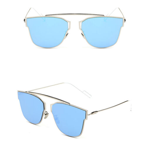 Quality Womens Fashion Oversized Flat Lens Mirror Cat eye Sunglasses