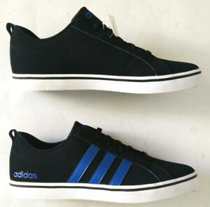 quality design 93a73 031e4 Image is loading Adidas-Neo-Pace-VS-Black-Blue-Shoes-Mens-