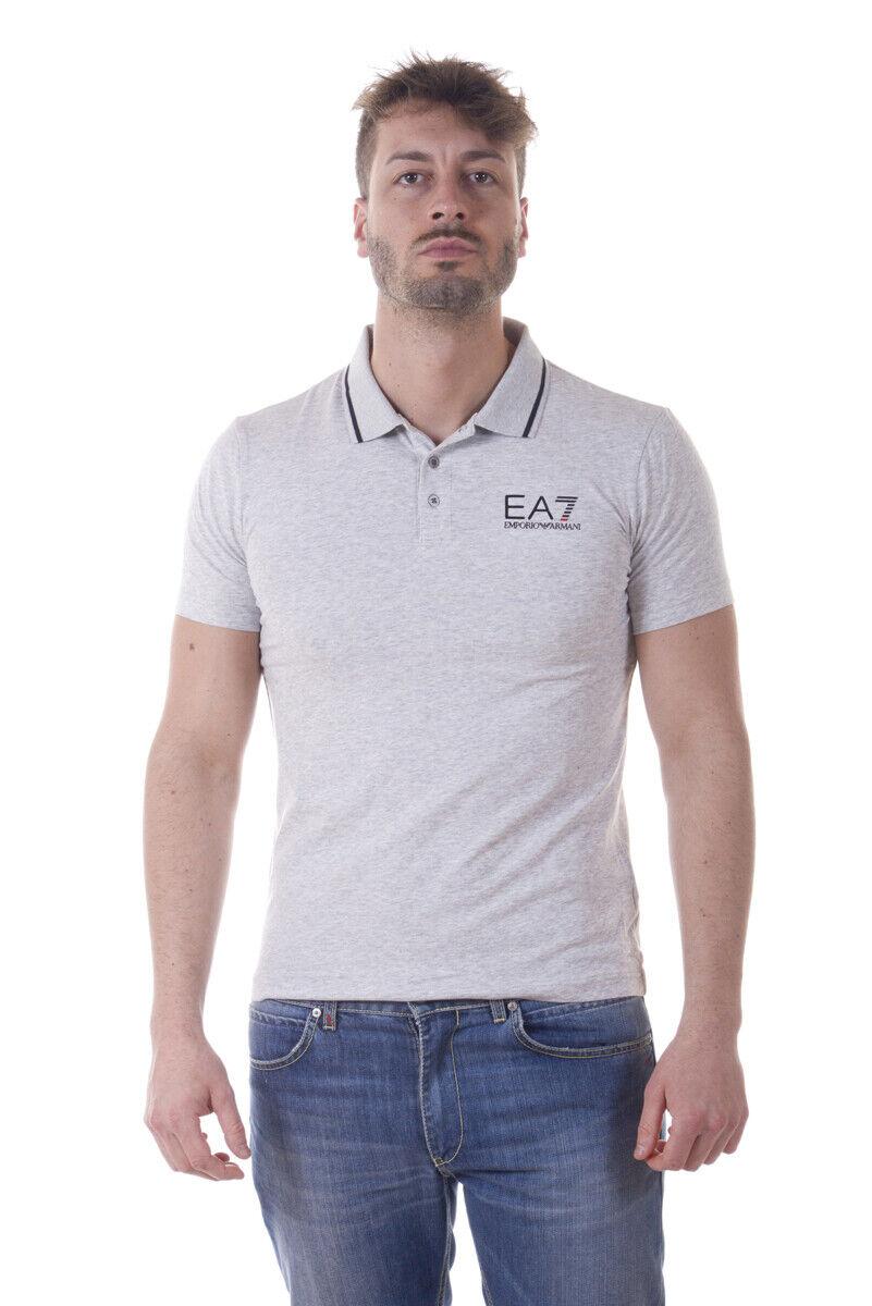 Emporio Armani EA7 Polo Shirt Cotton Man grau 3YPF51PJ03Z 3904 Sz. XXL PUT OFFER