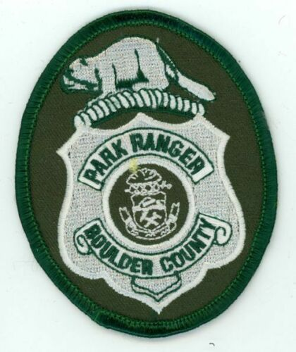 BOULDER COUNTY PARK RANGER COLORADO CO 3 1//2 INCHES TALL NICE PATCH POLICE
