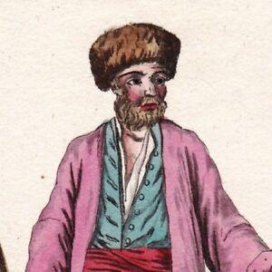 Gravure XIXe Homme Bulgare Bulgarie Bulgaria Men Мъж България 1805 ... 63cf6558ac3