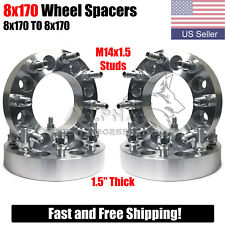 4 Wheel Spacers Adapters 8x170 Fits 2003 Amp Up Ford F 250 F 350 Swr 14x15 Studs Fits Ford