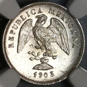 1903-Mo-NGC-MS-65-Mexico-5-Centavos-Lustrous-GEM-Silver-Coin-19122001C