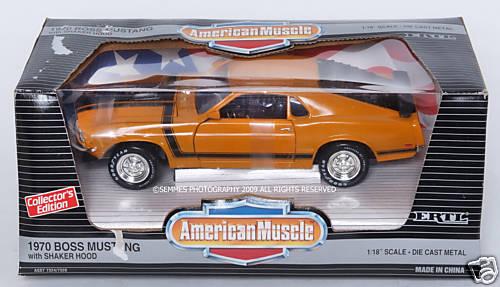 1970 Boss Mustang Grabber Orange par ERTL Nouvelle échelle 1 18 livraison gratuite