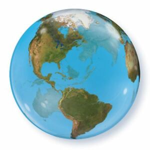 BUBBLES See Through Round World Planet Earth Atlas Map Globe - Round world map image