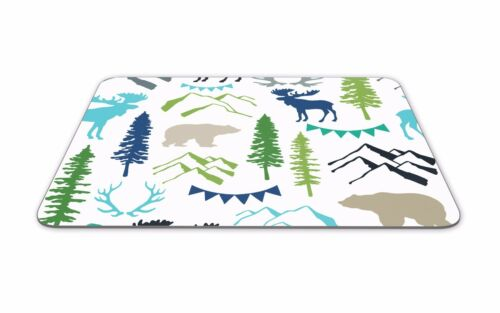 Woodland Animals Mouse Mat Deer Bear Moose Canada Pad Gift Computer Gift #8188