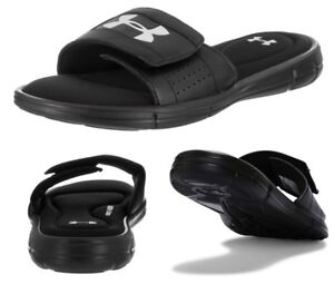 Under-Armour-Ignite-Men-039-s-Sliders-Foam-Sole-Sandals-Flip-Flops-Slide-Black