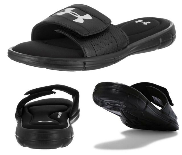 a6c3aa63f Under Armour Ignite Men's Sliders Foam Sole Sandals Flip Flops Slide Black