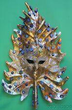 Venitian Mask Maurizio Monti Paper Mache Gold Leaf Murrine Murano Glass
