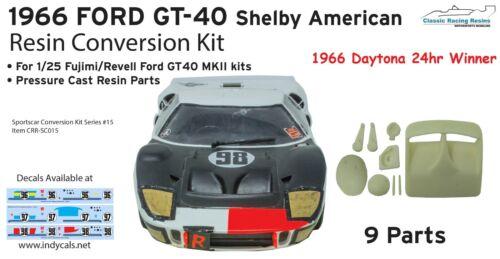 1966 Ken Miles Ford GT-40 resin conversion kit for Fujimi GT40 Mk II kits