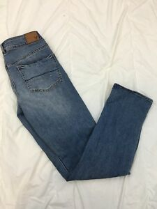 AMERICAN-EAGLE-AE-Super-Stretch-Straight-Jeans-Size-6-Regular-Distressed-P1
