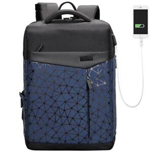 Men Laptop Backpack Waterproof Anti Thief Pocket Usb Charging Students Bags