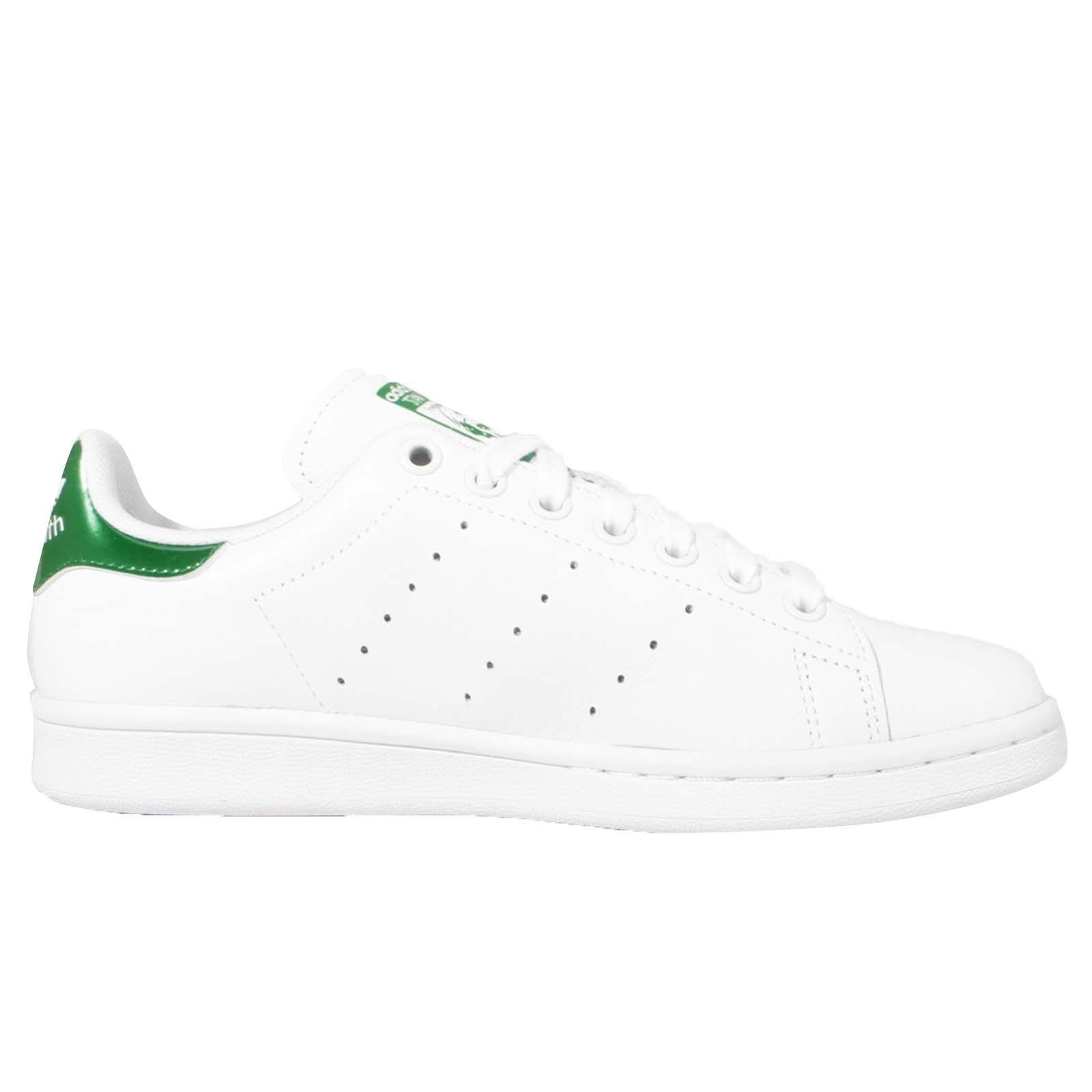 Mujer Adidas Stan Smith con blancoo verde Zapatillas Cuero Informales Aq6805