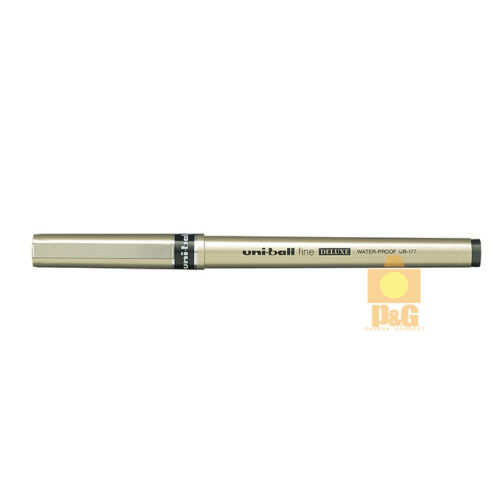 BLACK UB-177 Mitsubishi Uniball Uni-ball Micro Deluxe Rollerball Pen 0.7mm