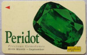 Malaysia-Used-Phone-Card-Precious-Gemstones-Peridot