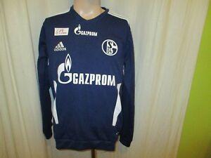 FC-Schalke-04-Adidas-U17-Spieler-Sweatshirt-Pullover-2011-12-034-Gazprom-034-Gr-M