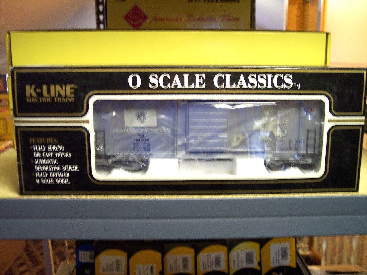 K Line K765-7426 Massachusetts Commemorative Classic Box Car Bank.