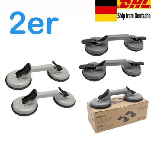 2x Saugheber Alu Glassauger Sauggriff Heber Saugnapf 120mm Vakuumheber Fliesen A