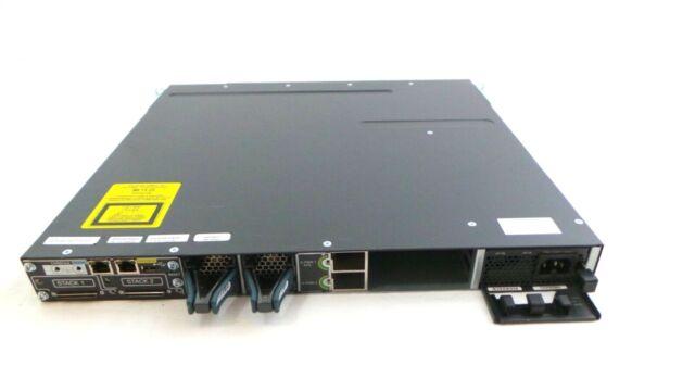 Cisco WS-C3750X-48P-L Catalyst 3750X 48 Port Gigabit PoE LAN BAS Network Switch