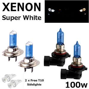 100w Super White Xenon HID Upgrade Low Dip Beam Headlight Bulbs Pair