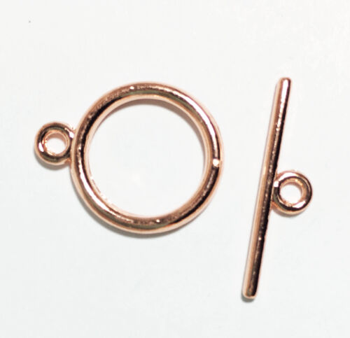 bulk toggle clasp 50 sets of Rose Gold finished smooth Toggle clasps
