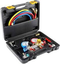 4 Way Refrigeration Manifold Gauge Set R410 R22 R134a Professional Achvac Tool