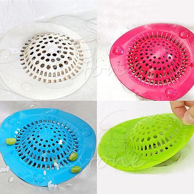 Silicone Bath Kitchen Waste Sink Strainer Filter Net Drain Hair Catcher Stopper