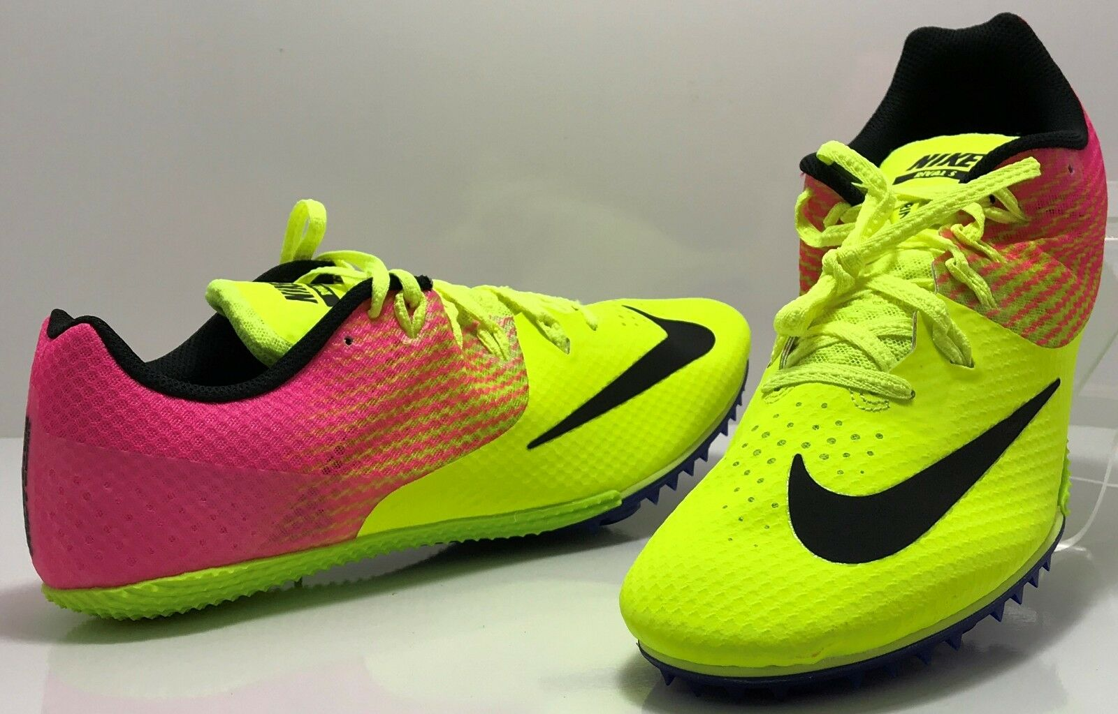 Nike Zoom Rival Shoes Men's 11 Pink Yellow S8 Track & Field Running 806554-999 Special limited time