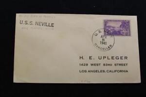 Naval-Housse-1941-SHIP-039-S-Coin-Carte-Uss-Neville-AP-16-5977