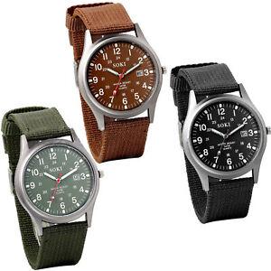 INFANTRY-Men-039-s-Military-Army-Sports-Quartz-Date-Luminous-Wrist-Watch-Nylon-Strap
