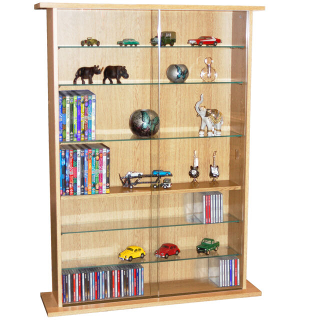 boston glass collectable display cabinet cd dvd storage shelves rh ebay co uk CD Storage Solutions DVD Storage Tower
