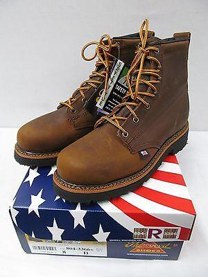 70f82fe8cef Thorogood 6 Inch Plain Steel Toe Brown Work Boots 804-3366 USA | eBay