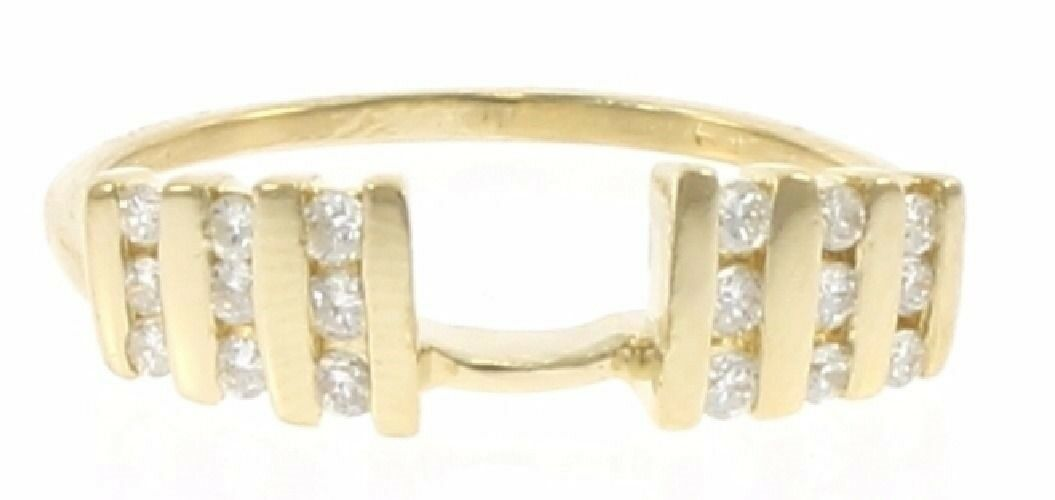 Ladies Genuine Diamond Wrap Ring in 14 Kt Yellow gold