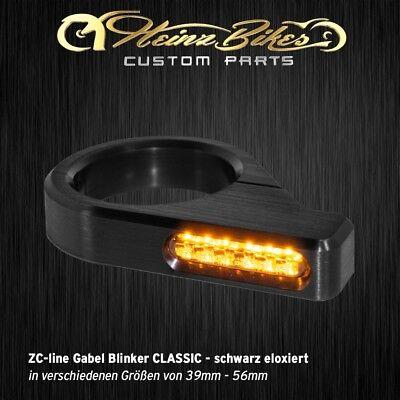 41 mm-39 mm HeinzBikes ZC-line LED Gabel Blinker CLASSIC schwarz