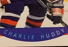 CHARLIE HUDDY 1990-91 Pro Set ERROR Variation BLUE Bleed 1st Name #85 Oilers W@W