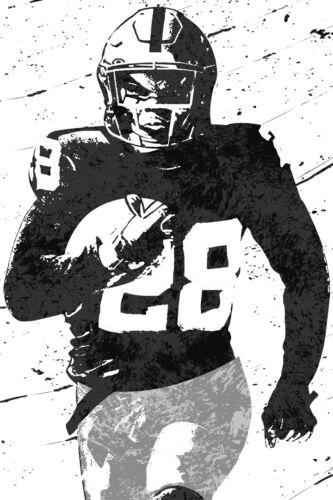 POSTER 24x36 Josh Jacobs Las Vegas Raiders Football Art Wall Room Poster